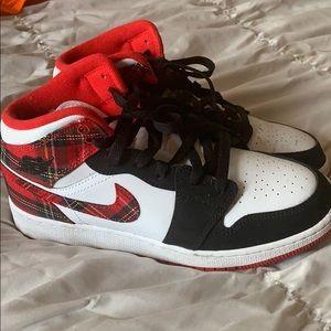 Plaid air Jordan's